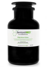 Bentonite MED® detox powder 700g in violet glass, Medical device