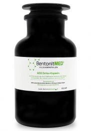 Bentonite MED® 600 detox capsules in violet glass, Medical device