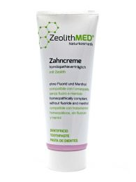 Zeolite Toothpaste 75ml, Homeopathy Compatible, fluoride-free