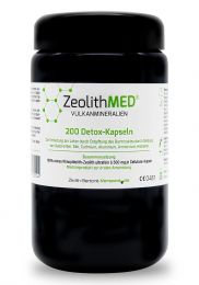 Zeolite MED® 200 detox capsules in Miron violet glass, Medical device