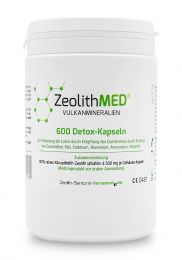 Zeolite MED® 600 detox capsules, Medical device