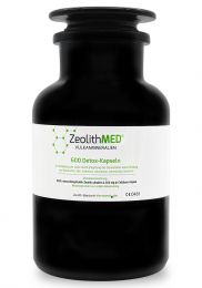 Zeolite MED® 600 detox capsules in Miron violet glass, Medical device