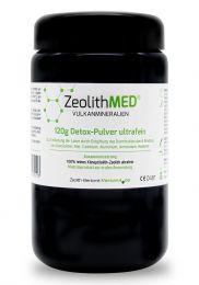 Zeolite MED® detox ultrafine powder 120g in violet glass, Medical device